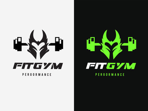 Fitness Logo template. GYM and sports logo. Vector Illustration