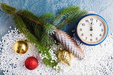 fir tree with clock