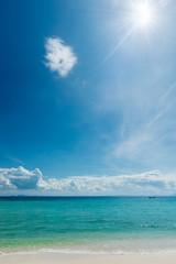 beautiful idealistic seascape on a sunny day on the coast of Thailand