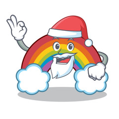 Santa colorful rainbow character cartoon