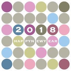 New Year Card Background Design - 2018