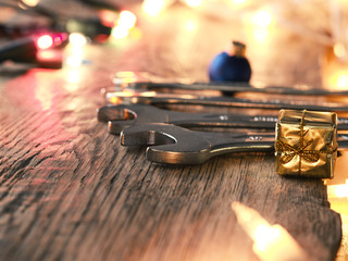 Christmas service or tools cocnept