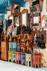 colorful crafts at moroccan market