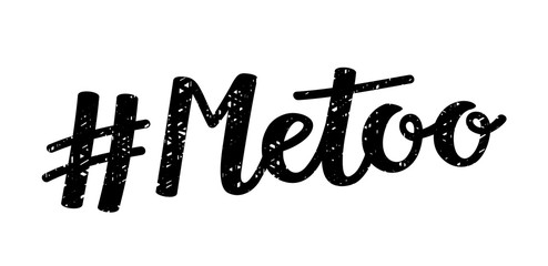 #MeToo hand lettering icon
