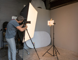 a young man photographed in the studio. unintended photography