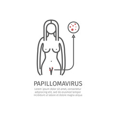 Human papillomavirus HPV. Vector illustration.