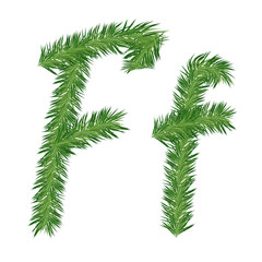 Pine or Fir Tree Letter f