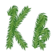 Pine or Fir Tree Letter k