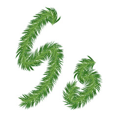 Pine or Fir Tree Letter s