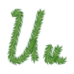 Pine or Fir Tree Letter u