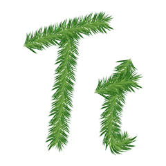 Pine or Fir Tree Letter t