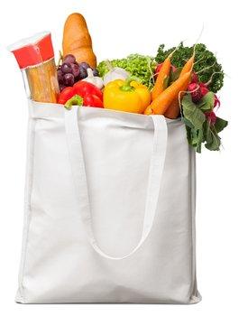 Bag full of groceries