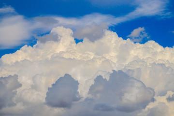 Thick cumulus clouds
