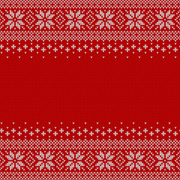 Knitted seamless background with copyspace.