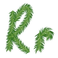 Pine or Fir Tree Letter r