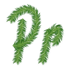 Pine or Fir Tree Letter p