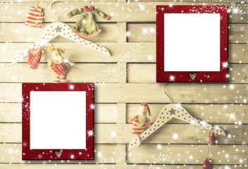 Christmas 2  photo frames cards