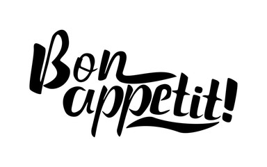 Custom vertical slats for kitchen with your photo Bon appetit lettering