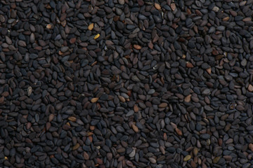 Black sesame seed background and texture