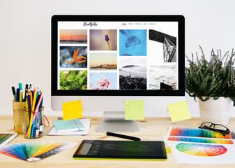stationery desktop photo portfolio