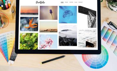 tablet pro photo portfolio site