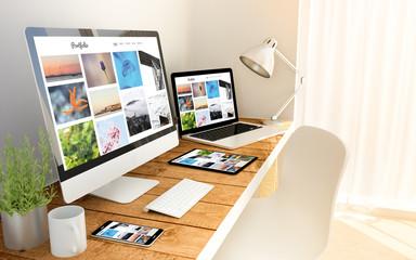 photo portfolio responsive concept on devices