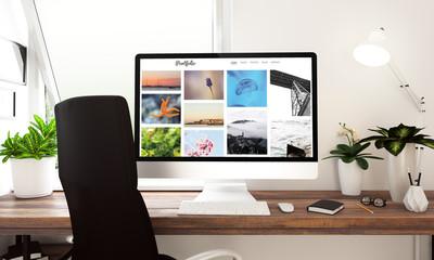 Computer photo portfolio window