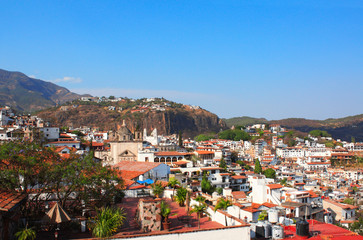 Arieal view of Taxco de Alarcon city, Mexico