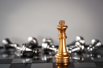 Chess business idea for competition, success and leadership concept