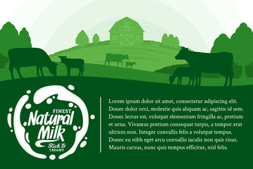 Vector milk illustration