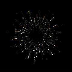 Fireworks sparkles background vector illustration