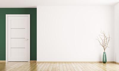 Interior background with door 3d rendering
