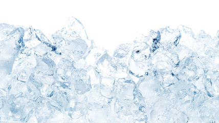 Natural ice cubes background. Wall mural