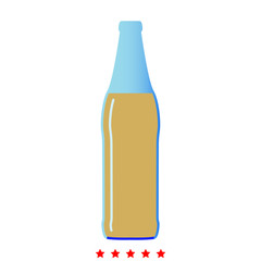 Beer bottle icon .  Flat style