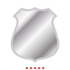 Police badge icon .  Flat style