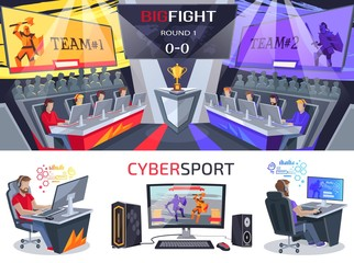 Cybersport Big Fight Poster in Electronic Gaming