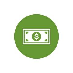 Dollar bills flat vector icon. Money flat vector icon