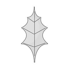 leaf christmas decoration nature element icon