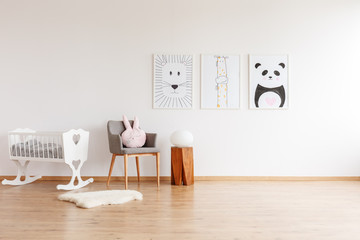 Drawings in baby's room