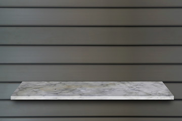 white  top marble shelf and stone floor  texture background, can be used display product.