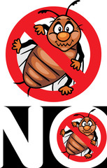No bugs. Stop bug sign. Icon for design or logo