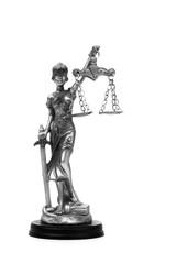 Goddess of Justice Temida slides on a white background