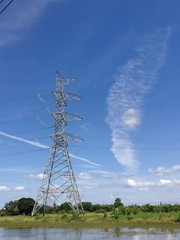 High voltage pole technology, in concept wallpaper