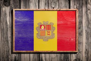 Wooden Andorra flag
