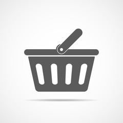 Shopping basket icon. Vector illustration