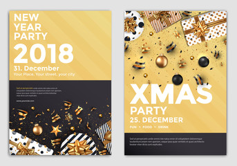 Christmas Party Flyer Design- golden design 2