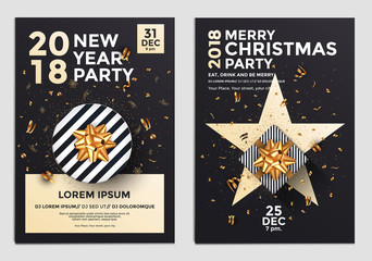 Christmas Party Flyer Design- golden design 5