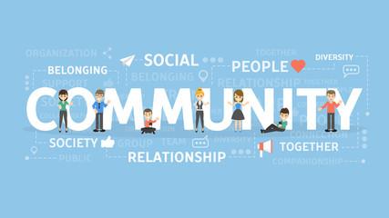 Community concept illustration.