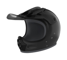 Motocross Helmet Isolated