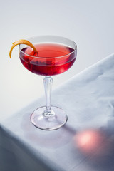 Negroni cocktail on a table